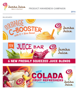 Jamba Juice Product Awareness Campaigns